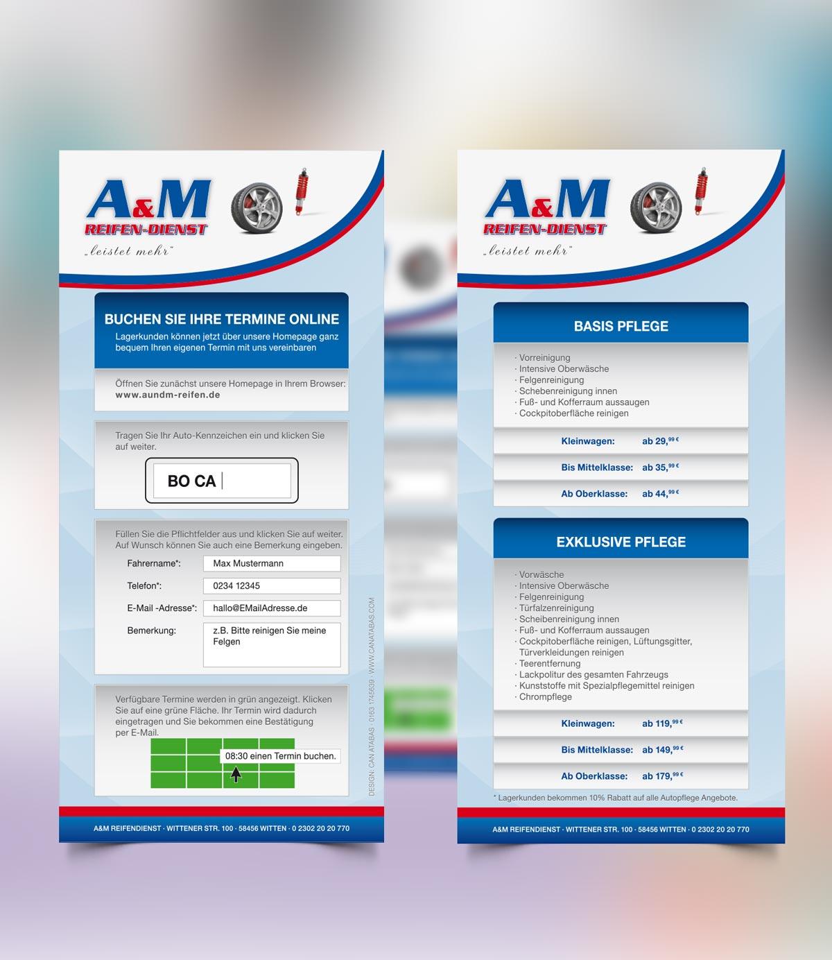 A&M Reifendienst Witten Flyer