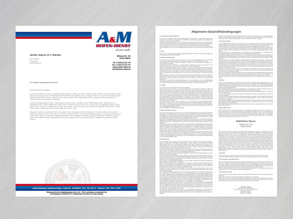 A&M Reifendienst Witten Briefpapier