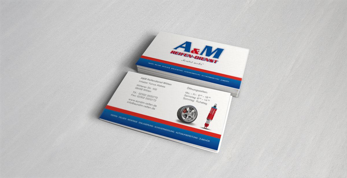 A&M Reifendienst Witten Visitenkarte