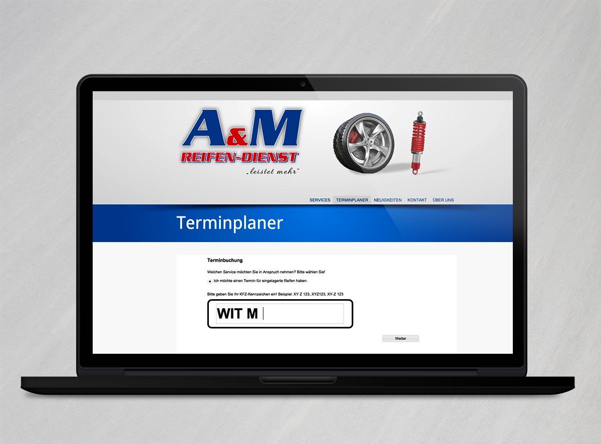 A&M Reifendienst Witten Webseite