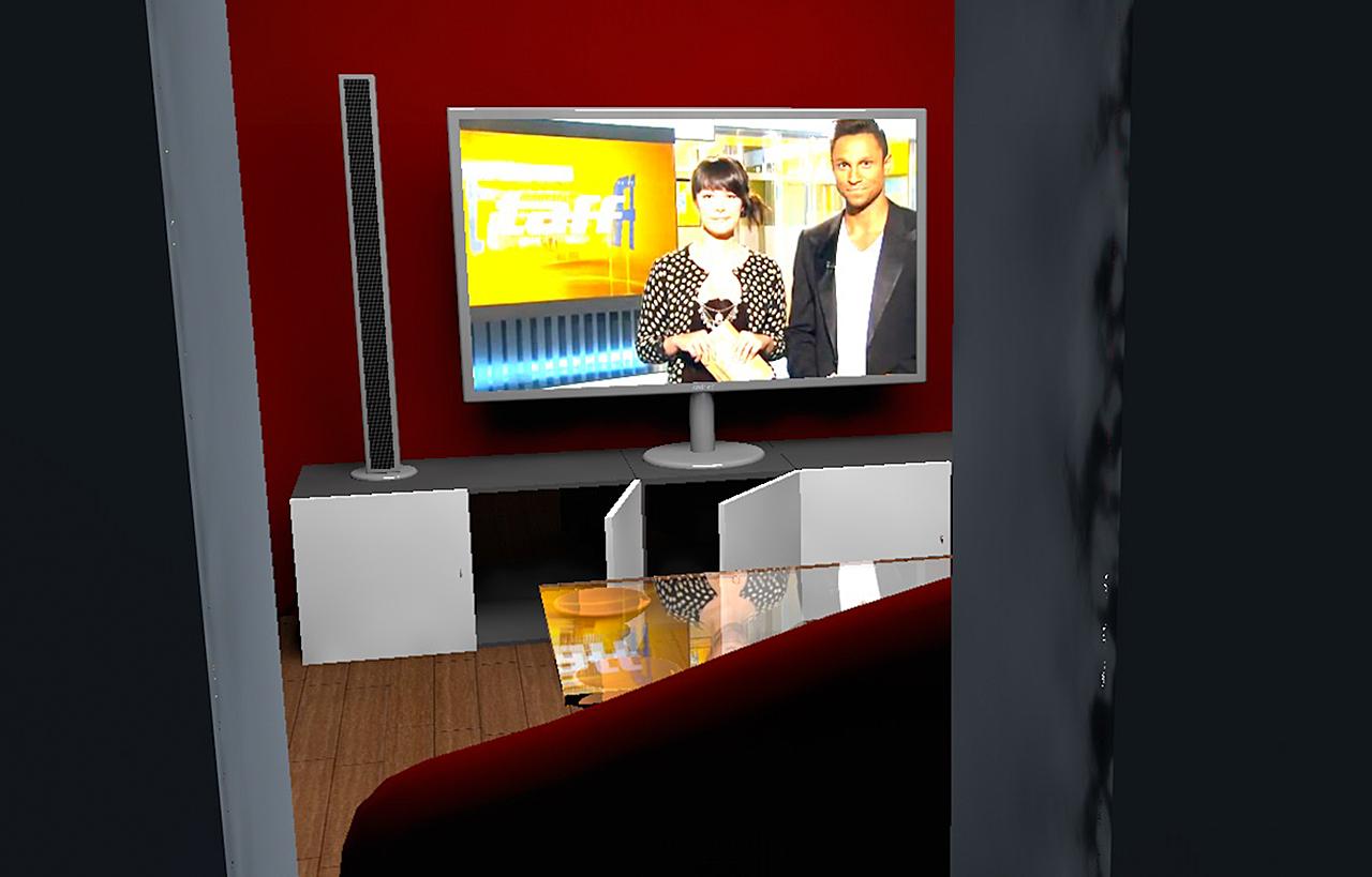 Konzeptioneller Raum in 3D