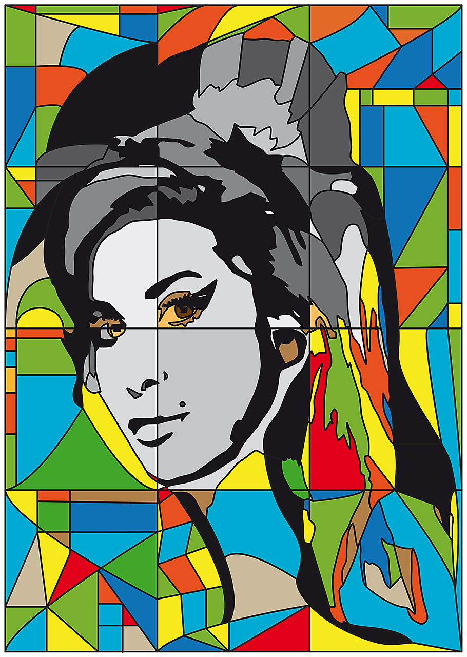 Amy Winehouse in Glaskunst