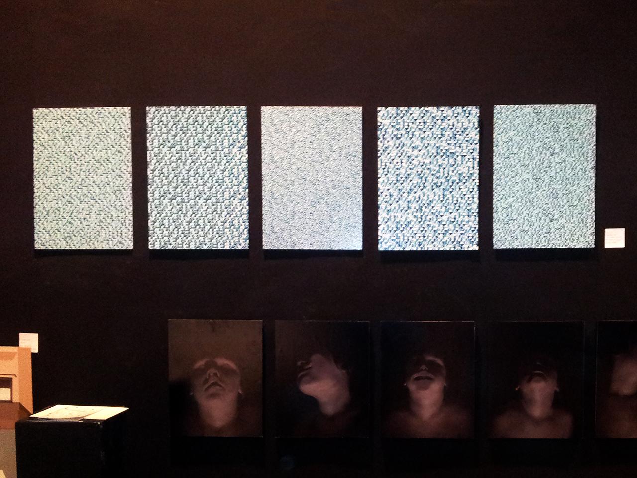 Horrortapete in der Ausstellung in FH Dortmund