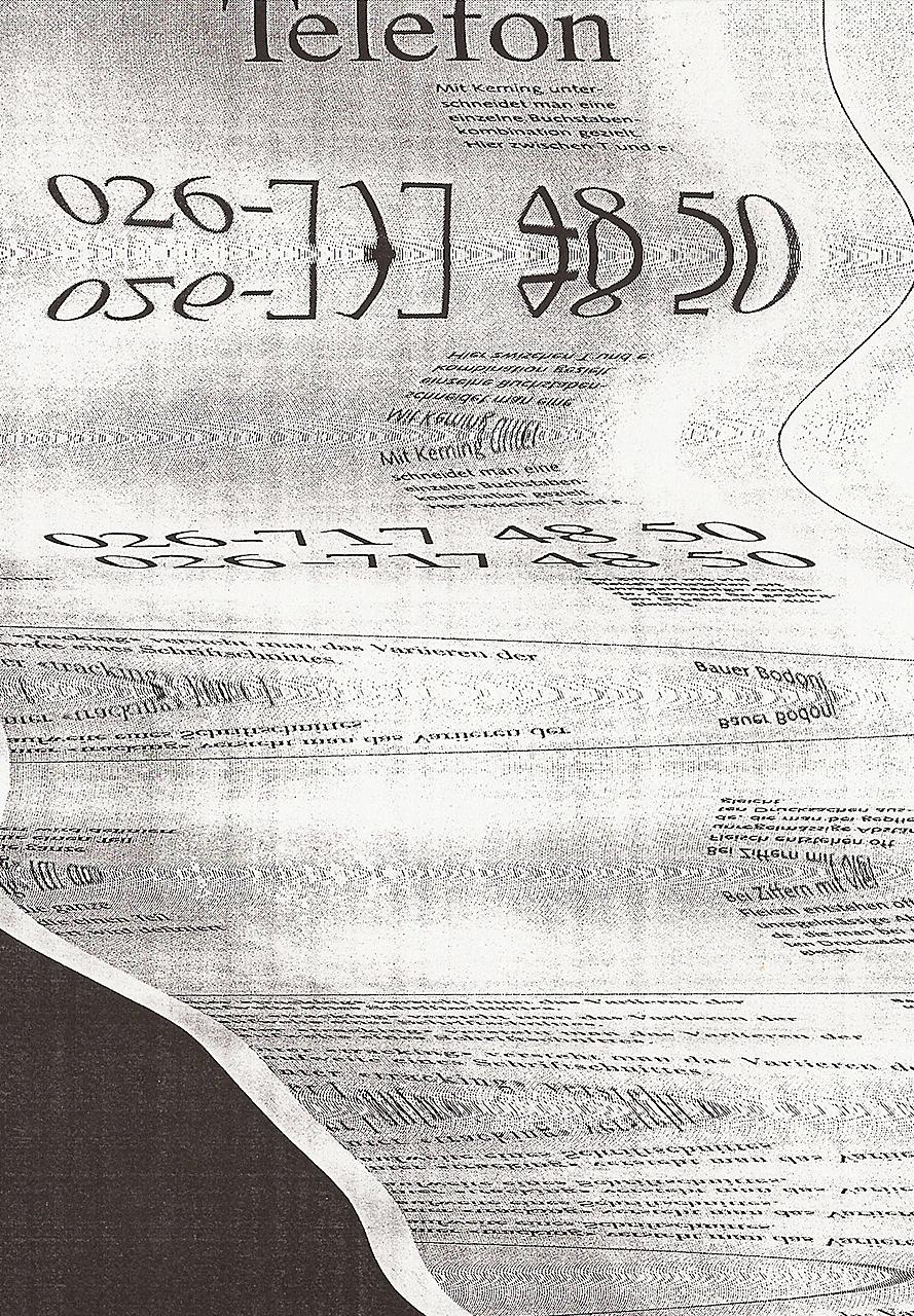 Buch Scan Typografisch