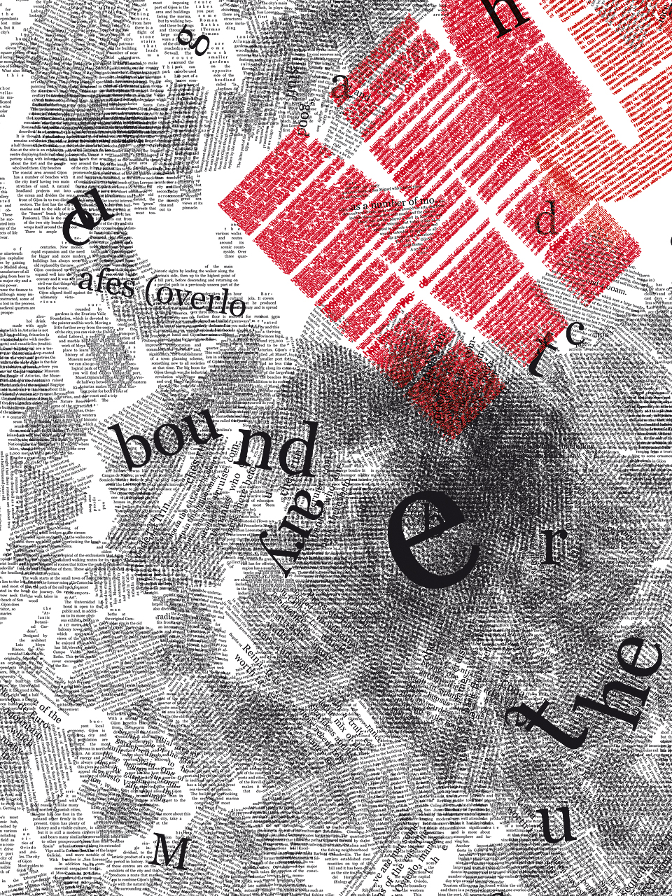 Typografie Poster Chaos im System