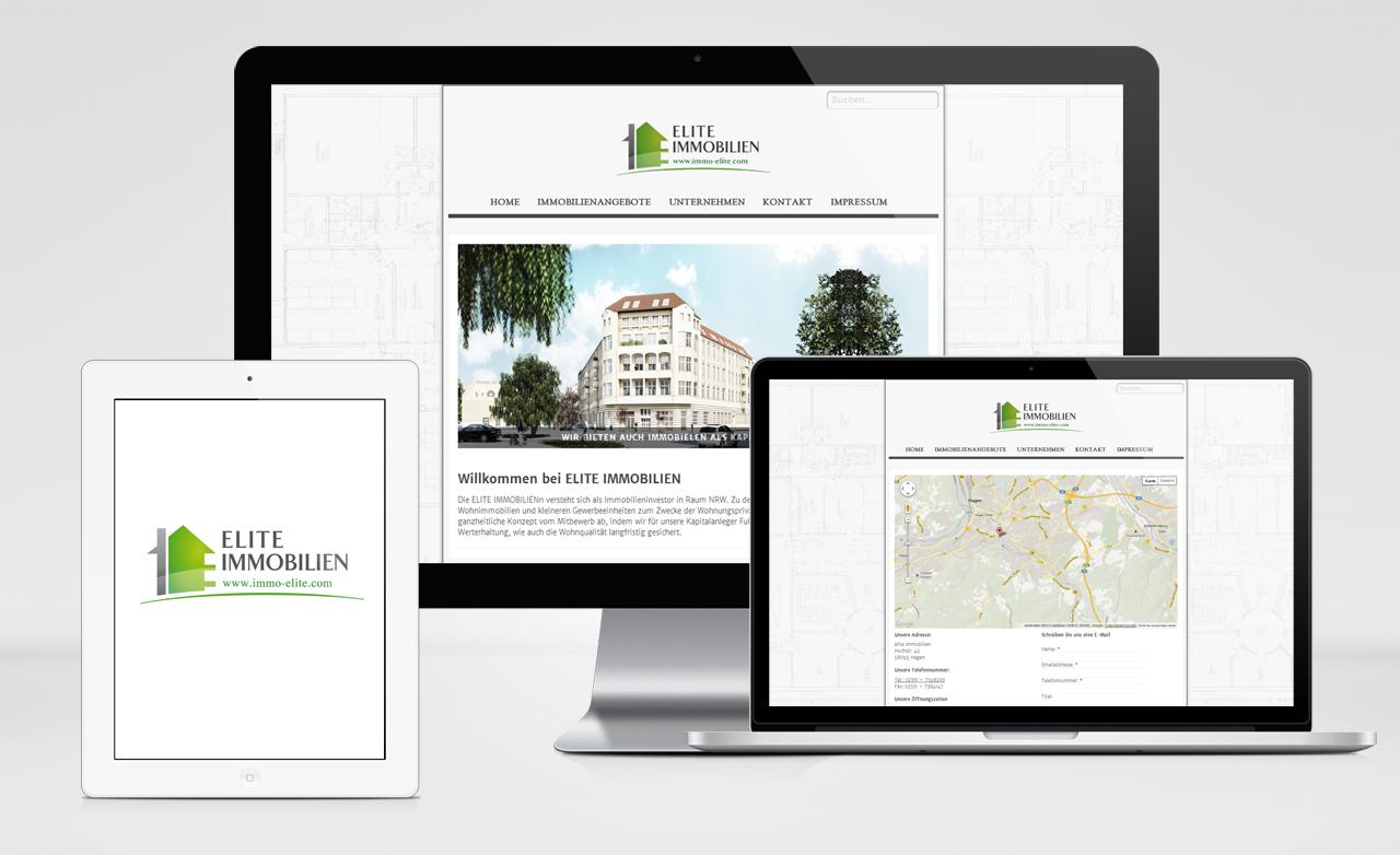 Elite Immobilien Webdesign Vorschau