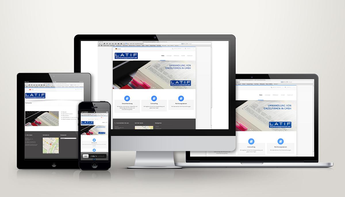 Latif Steuerberatung Webdesign Vorschau