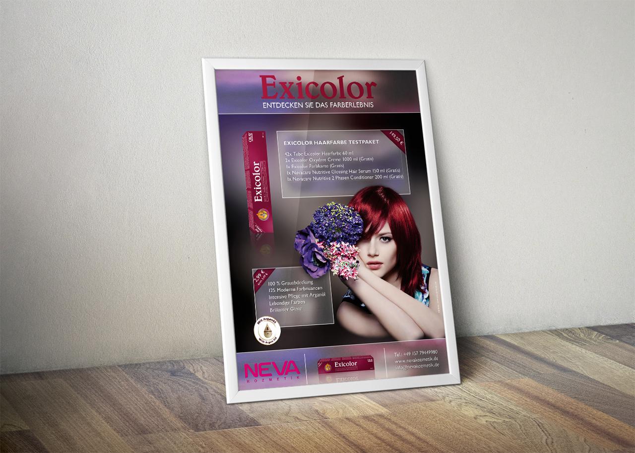 Neva Kosmetik Poster Design Vorschau