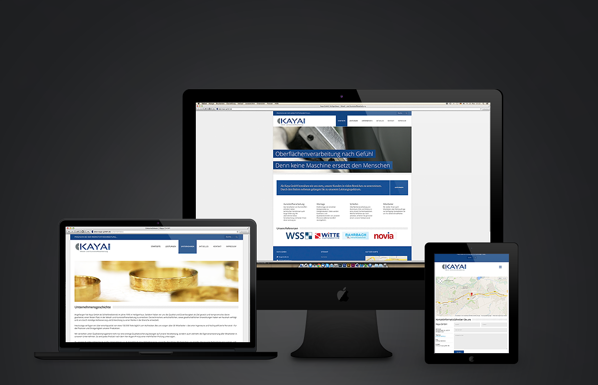 Kaya GmbH Webseite