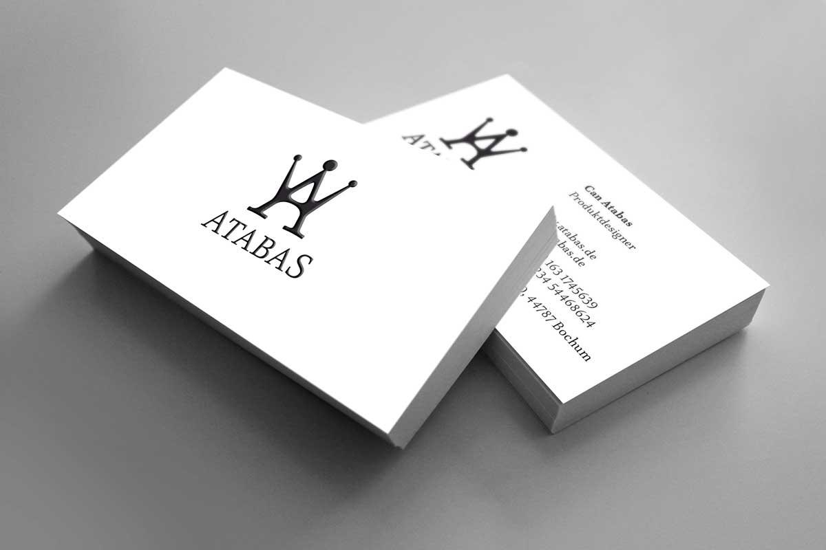 Atabas Design Visitenkarten