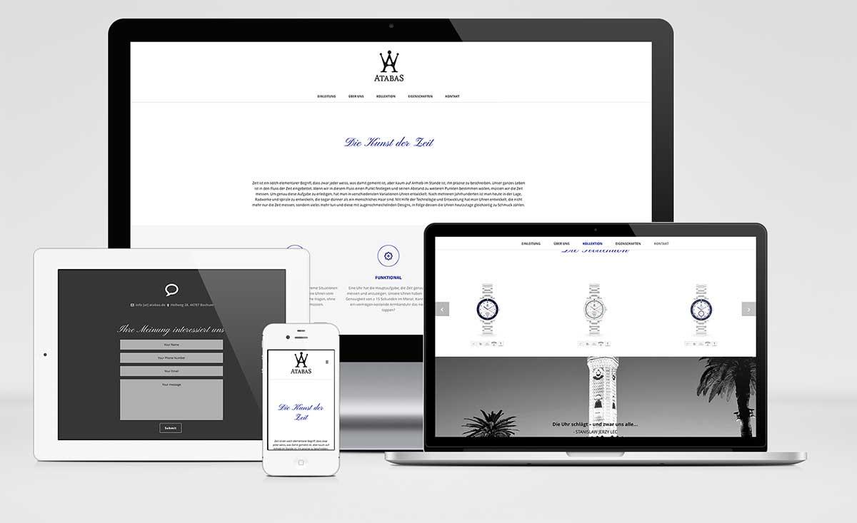 Atabas Webseite