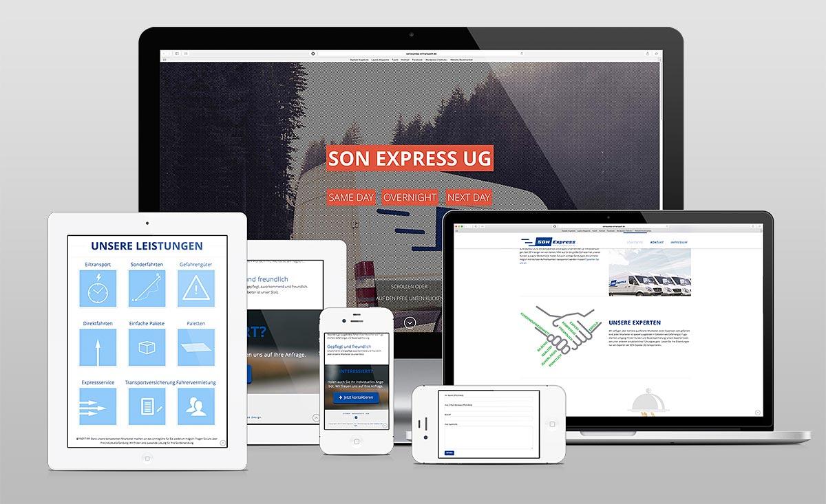 SON Express Webdesign Vorschau