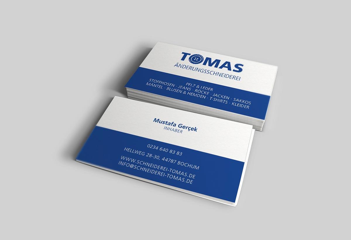 Tomas Änderungsschneiderei Visitenkarten Vorschau