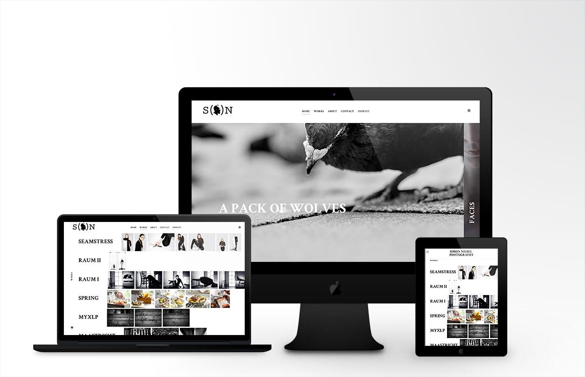 Simon Niebel Webdesign Vorschau