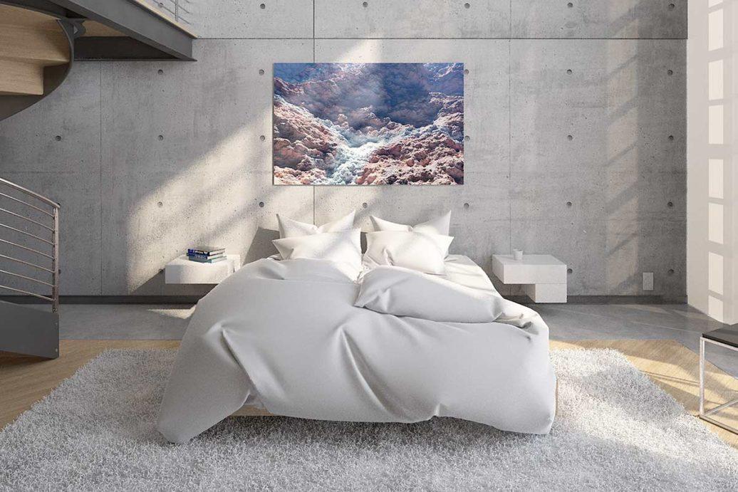 Beispielszene Bildaufhängung Schlafzimmer