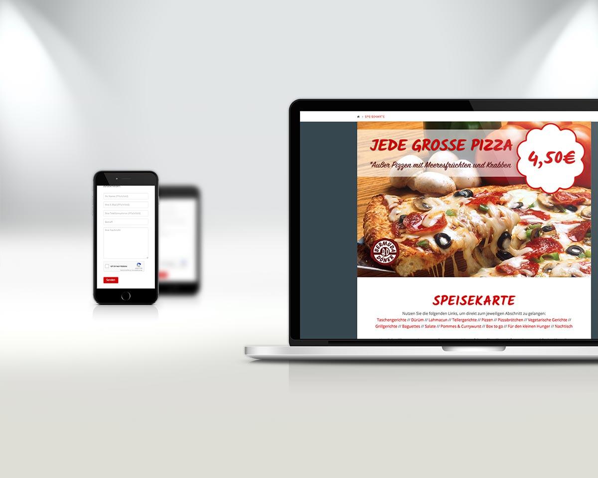 Webseite Vorschau Laptop und Mobil