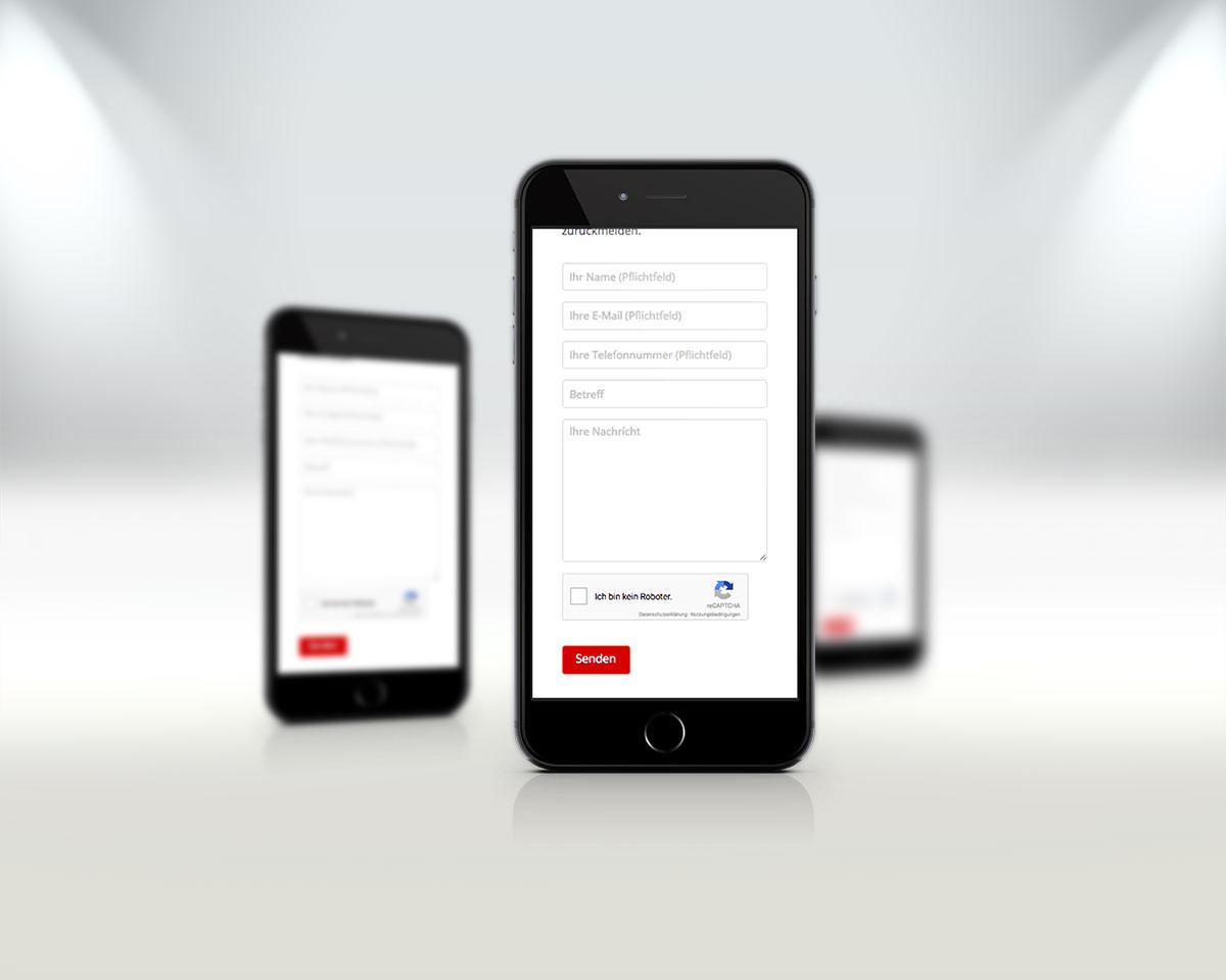 Webseite Vorschau Mobil