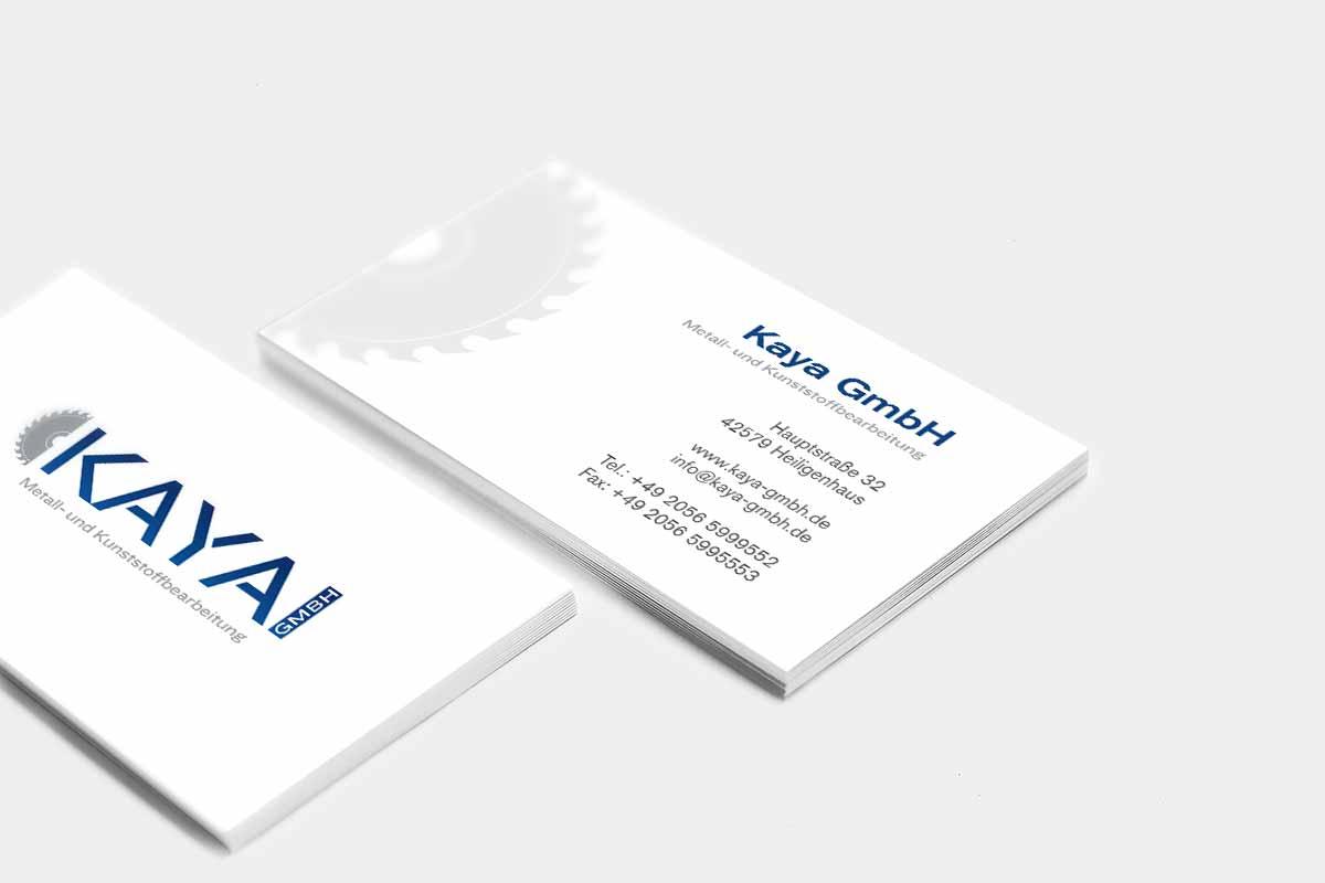Kaya GmbH Visitenkarten