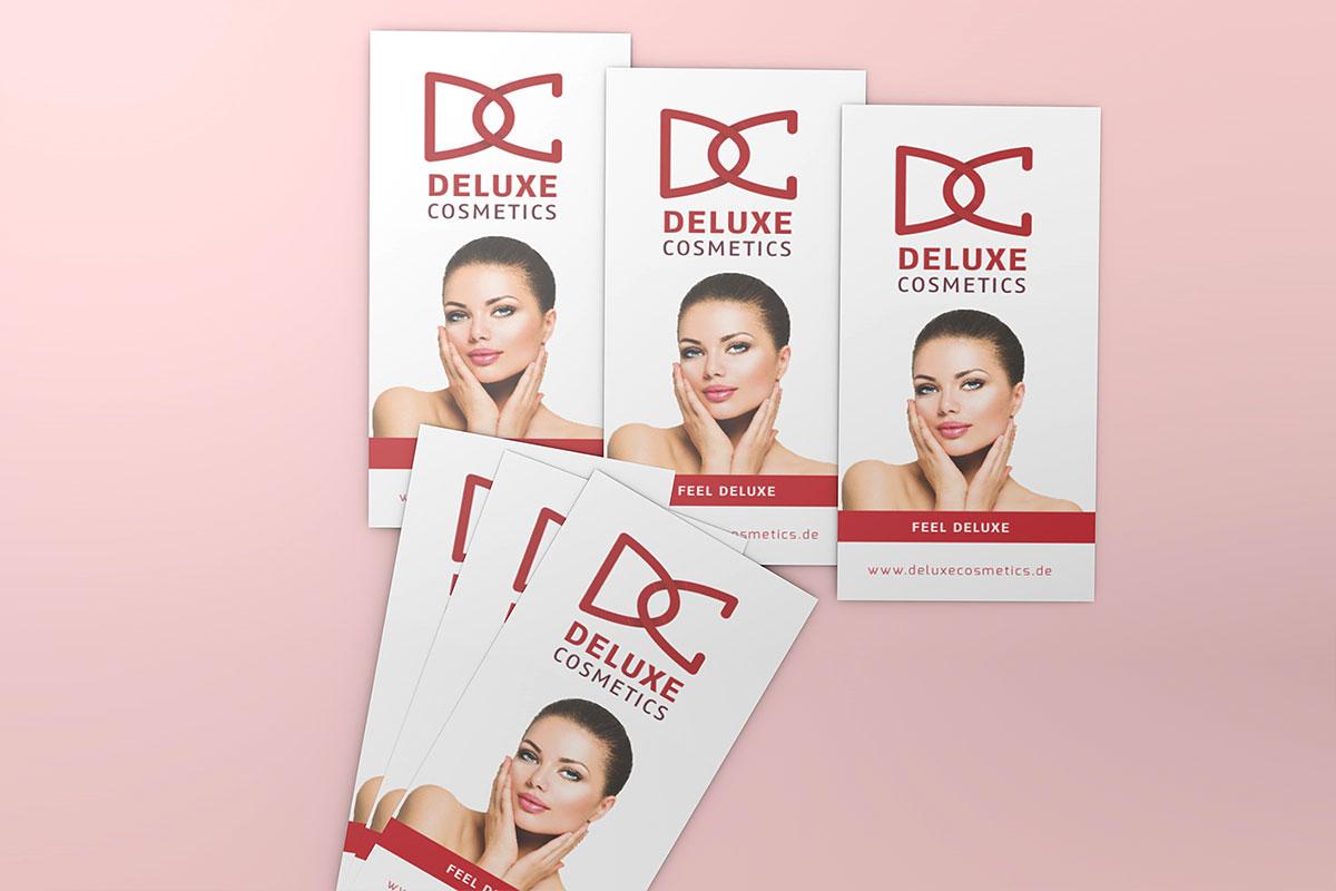Deluxe Cosmetics Flyer geschlossen