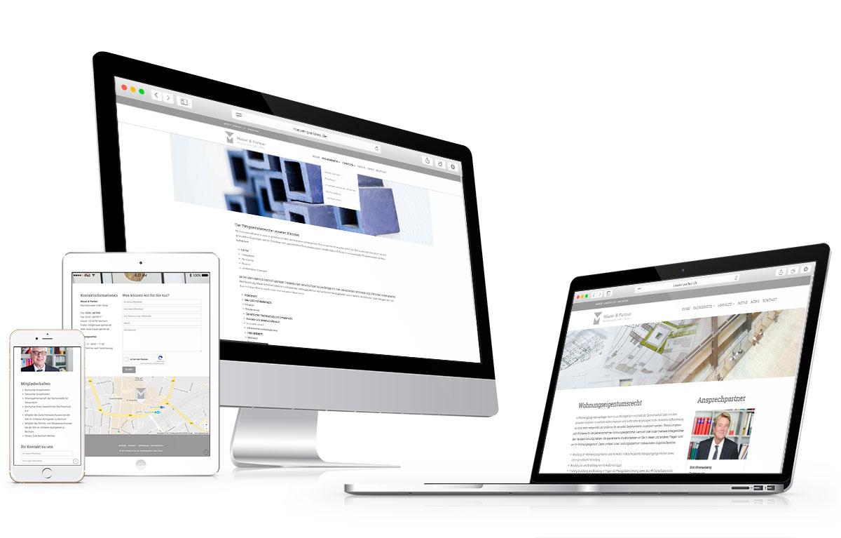 mauer-partner webdesign vorschau