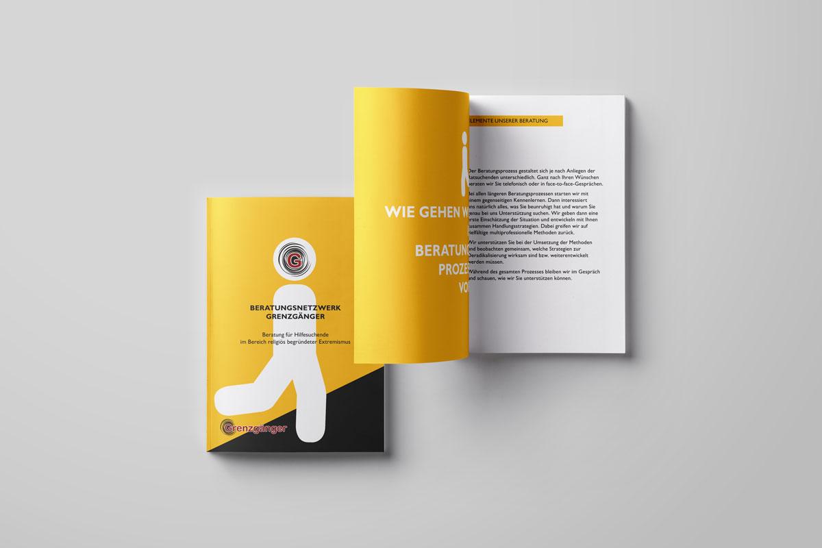Beratungsnetzwerk Grenzgänger Broschüre Vorschau