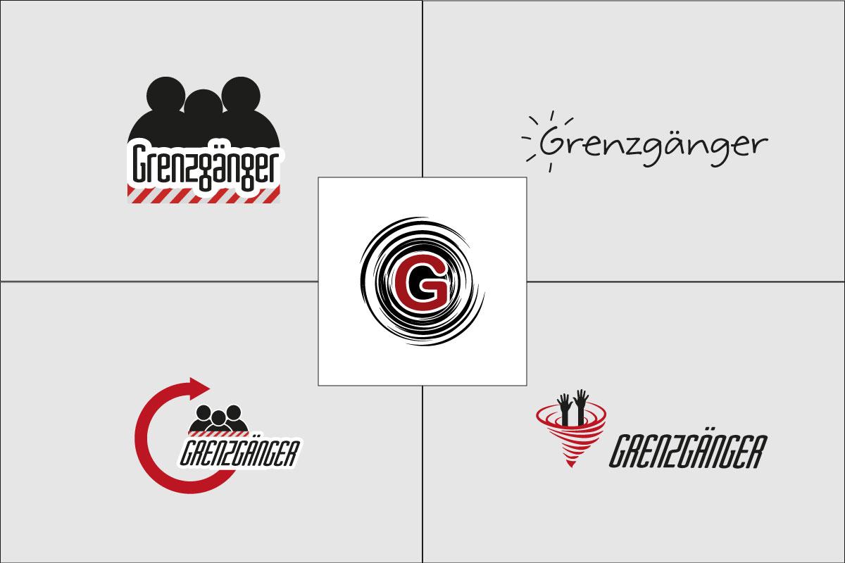 Beratungsnetzwerk Grenzgänger Logo Entwürfe