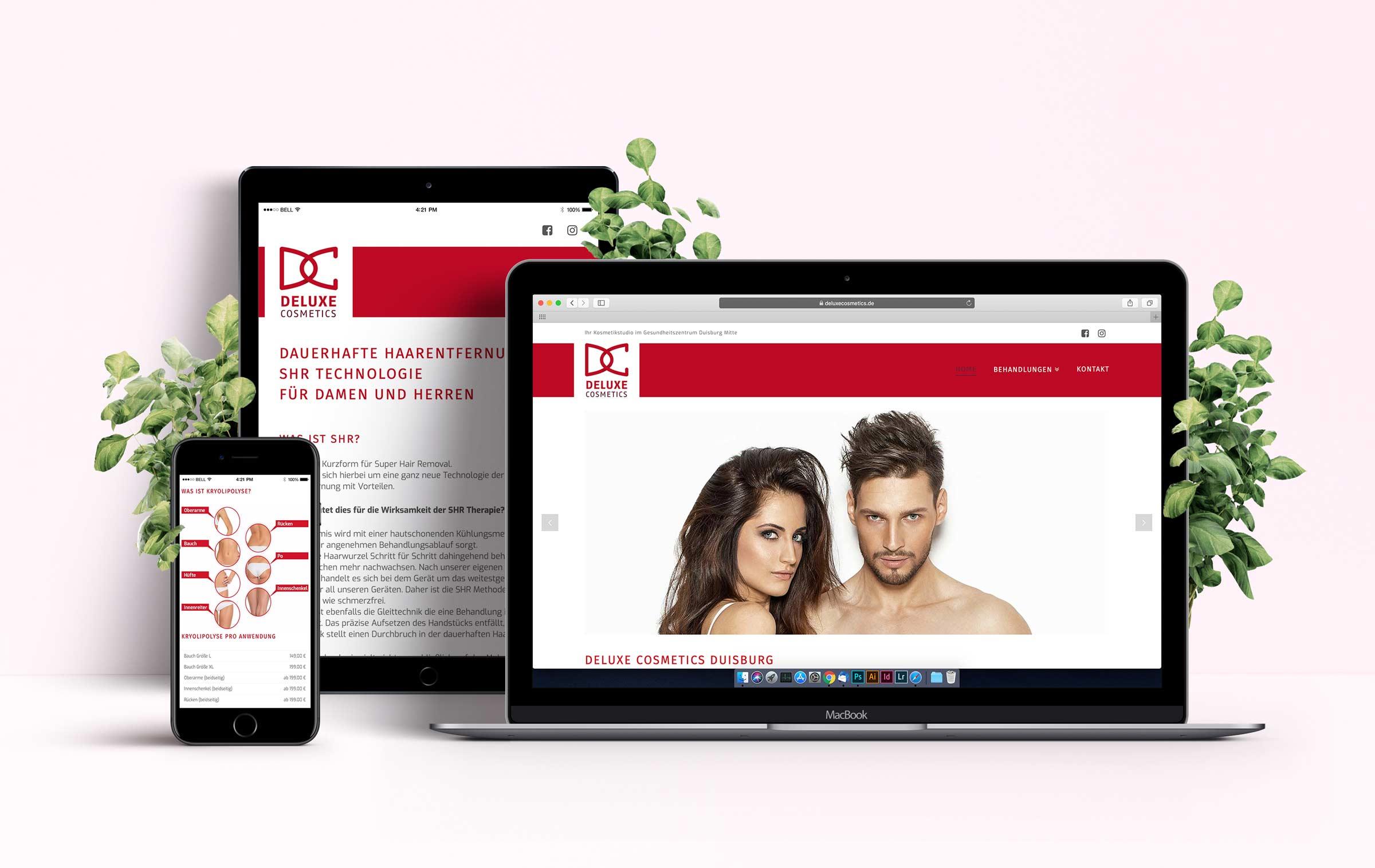Deluxe Cosmetics Webdesign Vorschau