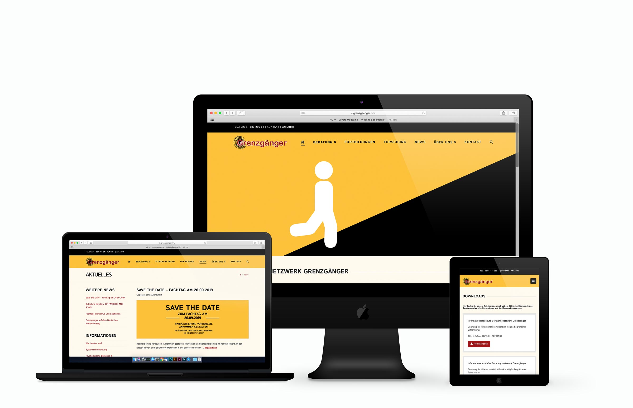 Beratungsnetzwerk Grenzgänger Webdesign Vorschau